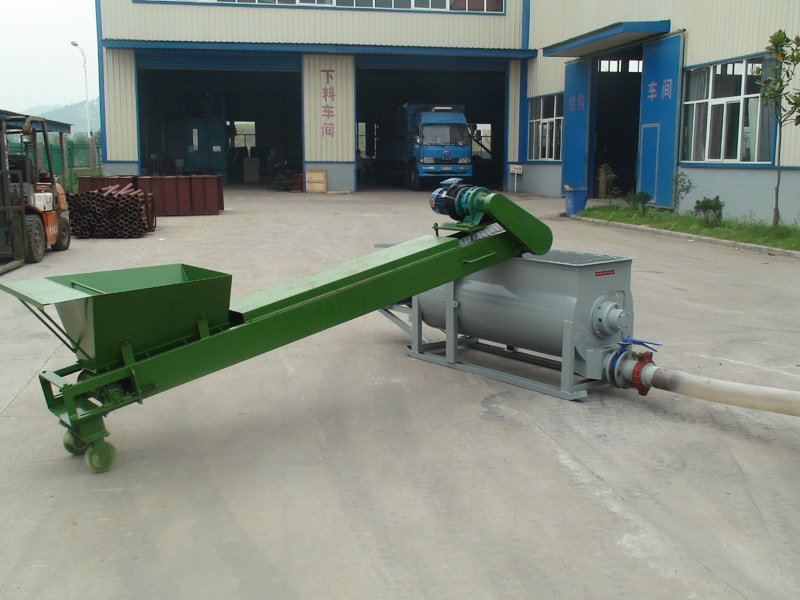 mixer and feeder of lightweight concrete plant