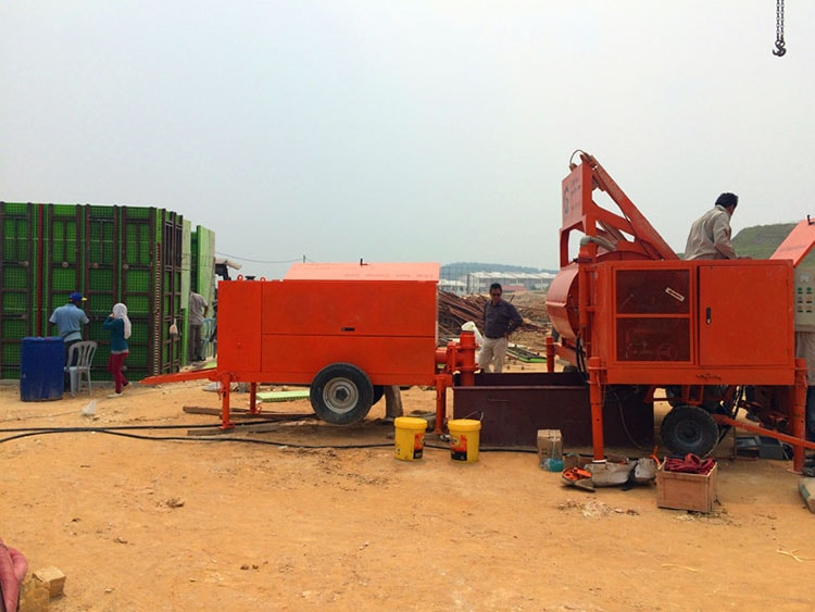 foam concrete pump for wall