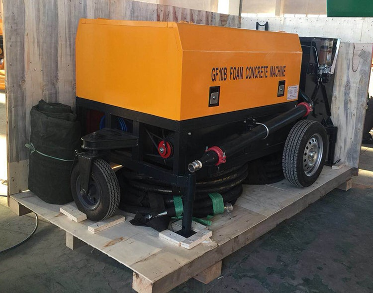 foam generator for foam concrete machine delivery