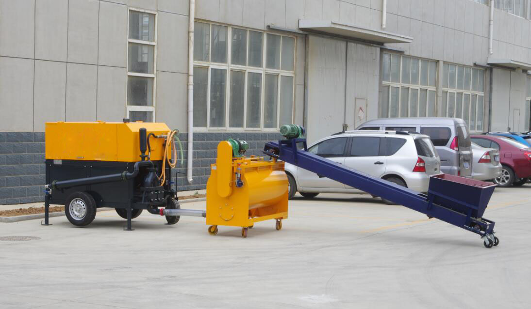 GF20 foam concrete machine for floor heating