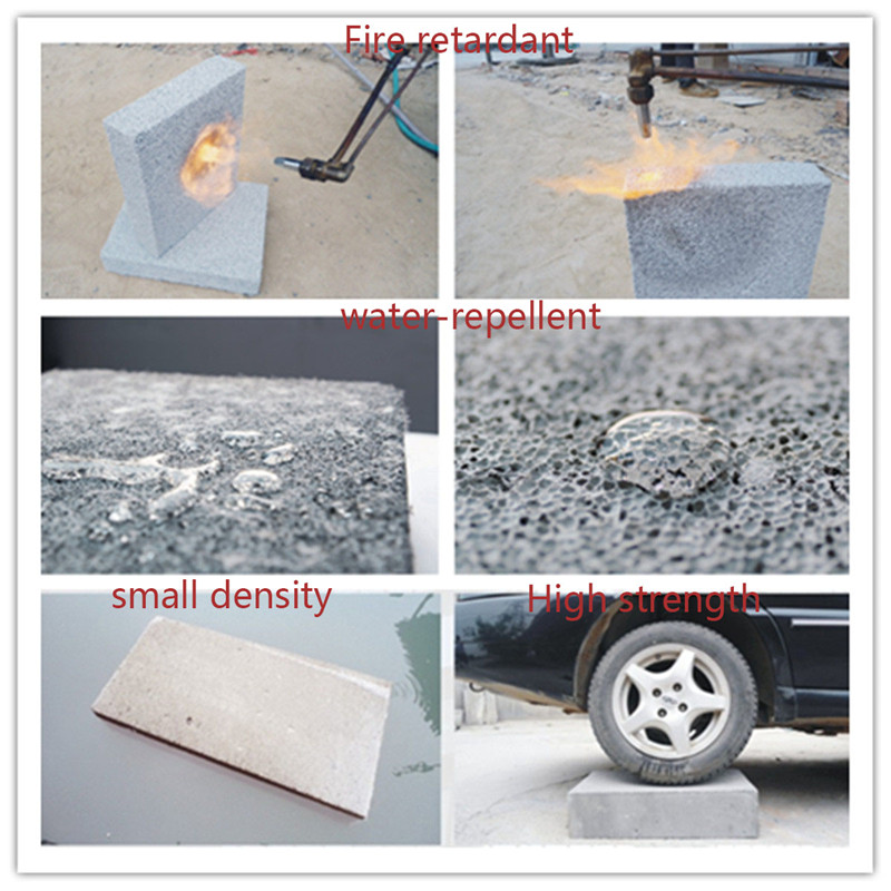 The features of the foam concrete blocks