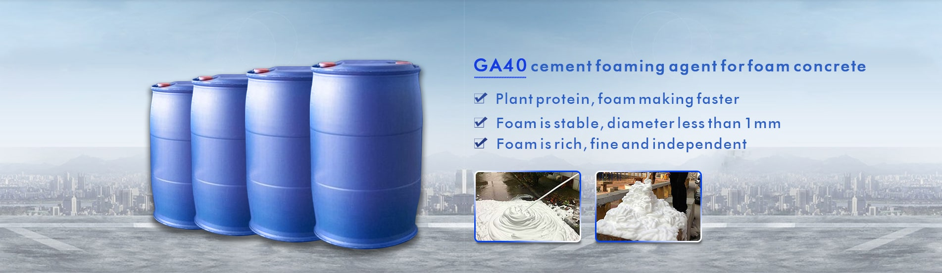 cement foa ming agent forfoam concrete