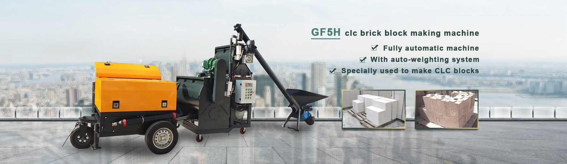 clc brick block making machine