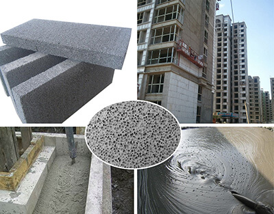 Foam concrete used for void filling