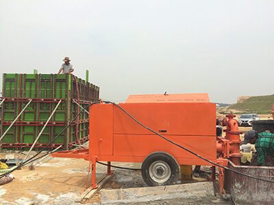 China foam concrete pump supplier