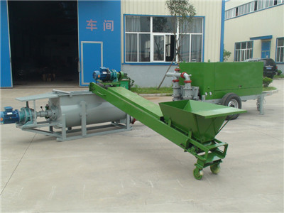 High efficiency lightweight concrete machine
