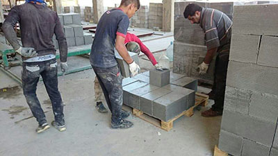 Lightweight concrete brick machine weight of the foam